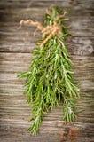 Rosemary auf Holz Stockfotos