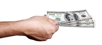 Bargeld heraus geben Lizenzfreie Stockfotografie