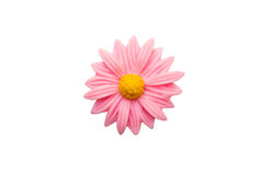 Schließen Sie oben von der rosa Plastikblume stockfotos