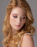 Schließen Sie oben von der schönen jungen Frau Stockbilder