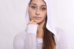 Schließen Sie oben von der schöner und des Athleten jungen Frau Lizenzfreies Stockbild