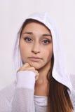 Schließen Sie oben von der schöner und des Athleten jungen Frau Lizenzfreie Stockfotos
