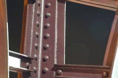 Schließen Sie oben von der Vizcaya-Brückenstruktur lizenzfreie stockfotos