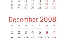 Schließen Sie oben von Dezember 2008 Stockbilder