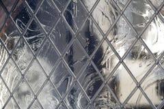 Schließen Sie oben von einem alten verbleiten Fenster Lizenzfreies Stockfoto