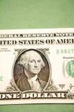 Schließen Sie oben von einem Dollarschein Stockfotografie
