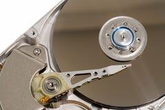 Schließen Sie oben von einem internen Festplattenlaufwerk des Computers Stockfoto