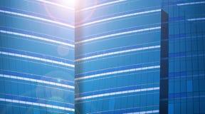 Schließen Sie oben von einem modernen Geschäftsgebäude Lizenzfreies Stockbild