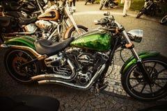 Schließen Sie oben von einem Motorrad der hohen Leistung stockbild