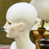 Schließen Sie oben von einem weiblichen Plastikmannequin-Kopf lizenzfreie stockbilder