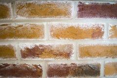 Schließen Sie oben von einer alten Außenbacksteinmauer Stockfotografie