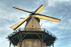 Schließen Sie oben von einer niederländischen Windmühle stockfotografie