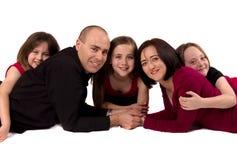 Schließen Sie oben von einer schönen Familie Stockfoto