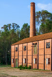 Schließen Sie oben von einer verlassenen Wolltextilfabrik des 19. Jahrhunderts von der industriellen Revolution Stockbilder
