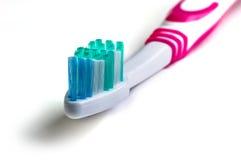 Schließen Sie oben von einer Zahnbürste Stockbild