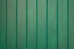 Schließen Sie oben von Grün gemaltem hölzernem Hintergrund - Beschaffenheit Stockfotografie