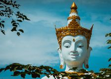 Schließen Sie oben von großer Buddha-Statue lizenzfreies stockbild