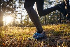 Schließen Sie oben von Hinterlaufenden Füßen lizenzfreie stockfotografie