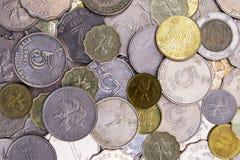 Schließen Sie oben von Hong Kong, China-Münzen Stockfotografie