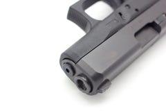 Schließen Sie oben von 9mm Pistole Stockbild