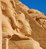 Schließen Sie oben von Ramses II Abu Simbel im Tempel Lizenzfreies Stockbild