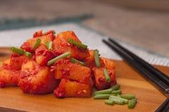 Schließen Sie oben von Rettich kimchi Lizenzfreie Stockfotografie