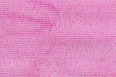 Schließen Sie oben von Rosa farbigem Wollgewebe Lizenzfreie Stockfotografie