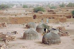 Schließen Sie oben von traditionelle Hütten in Hombori Lizenzfreie Stockfotografie