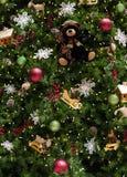 Schließen Sie oben von verziertem Weihnachtsbaum Stockfotografie