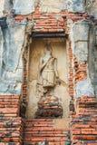 schließen Sie oben von Wat Mahathat im Komplex des buddhistischen Tempels in Ayutthaya nahe Bangkok thailand Stockbild