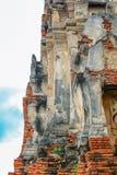 schließen Sie oben von Wat Mahathat im Komplex des buddhistischen Tempels in Ayutthaya nahe Bangkok thailand Lizenzfreie Stockbilder