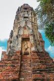 schließen Sie oben von Wat Mahathat im Komplex des buddhistischen Tempels in Ayutthaya nahe Bangkok thailand Lizenzfreie Stockfotos