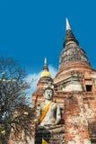 Schließen Sie oben von Wat Yai Chaimongkhon, Ayuthaya, Thailand Stockfotos