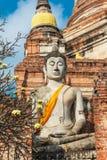 Schließen Sie oben von Wat Yai Chaimongkhon, Ayuthaya, Thailand Stockbilder