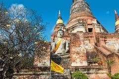 Schließen Sie oben von Wat Yai Chaimongkhon, Ayuthaya, Thailand Lizenzfreies Stockfoto
