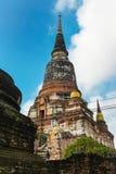 Schließen Sie oben von Wat Yai Chaimongkhon, Ayuthaya, Thailand Lizenzfreie Stockbilder