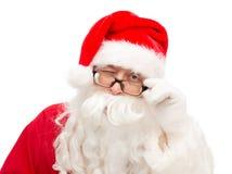 Schließen Sie oben von Weihnachtsmann-Blinzeln Lizenzfreie Stockbilder