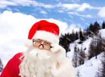 Schließen Sie oben von Weihnachtsmann-Blinzeln Stockbild