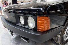 Schließen Sie oben von Weinlese Tatra T-613 Motor- Archivbild Stockfoto