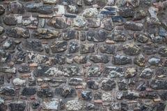 Schließen Sie oben Ziegelsteinen einer von den alten Wand Stockbild