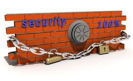 Schließen Sie Sicherheit ab Lizenzfreies Stockfoto