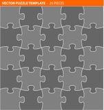 Schließen Sie vektorpuzzlespiel/zackige Schablone ab Lizenzfreies Stockfoto