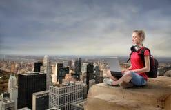 Schließen Sie vom Wolkenkratzer an Stockfoto