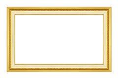 Schließen Sie zusätzliches Format ENV ein (Adobe-Illustrator) Gold/vergoldete Künste und macht MusterBilderrahmen in Handarbeit Lizenzfreies Stockbild