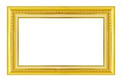 Schließen Sie zusätzliches Format ENV ein (Adobe-Illustrator) Gold/vergoldete Künste und macht MusterBilderrahmen in Handarbeit Lizenzfreie Stockbilder