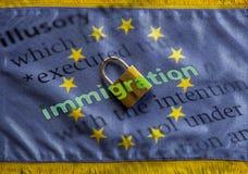Schließend Grenzen Europas Stockbild