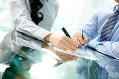 Schließendes Abkommen Lizenzfreies Stockfoto
