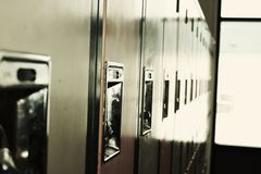 Schließfächer anonym Stockbild