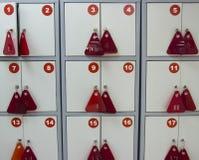 Schließfächer für Sachen im Speicher stockbilder