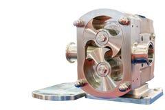 Schließen Sie herauf die Dreh Spitzentechnologie und Qualität oder Vorsprungsganghochdruckvakuumpumpe für Steuerkonstantes Strömu lizenzfreie stockfotografie